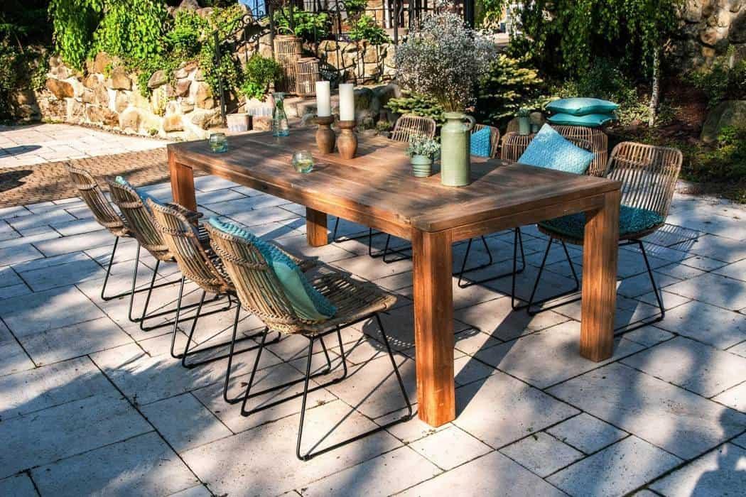 stoły tekowe