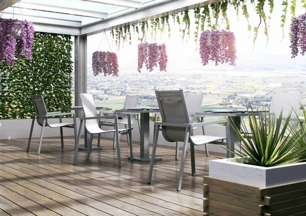 Krzesła ogrodowe metalowe