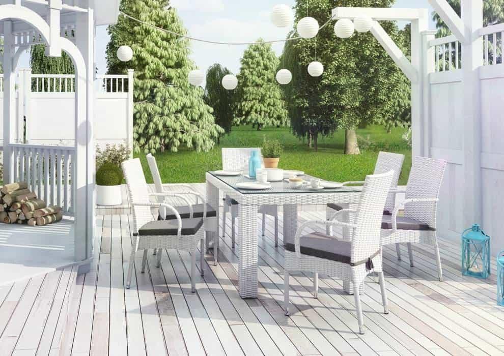 Krzesła ogrodowe białe