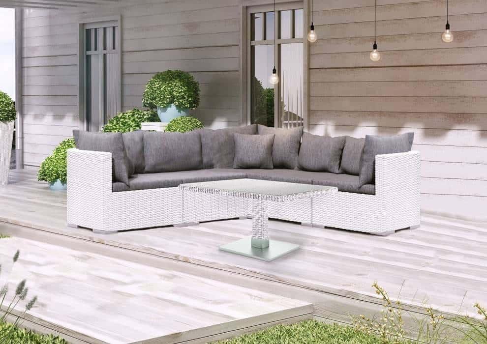 Sofa ogrodowa z technorattanu