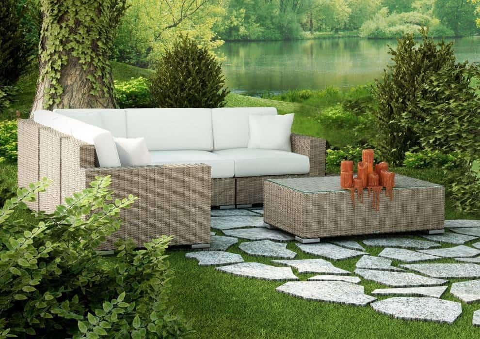 Komplet wypoczynkowy ogrodowy