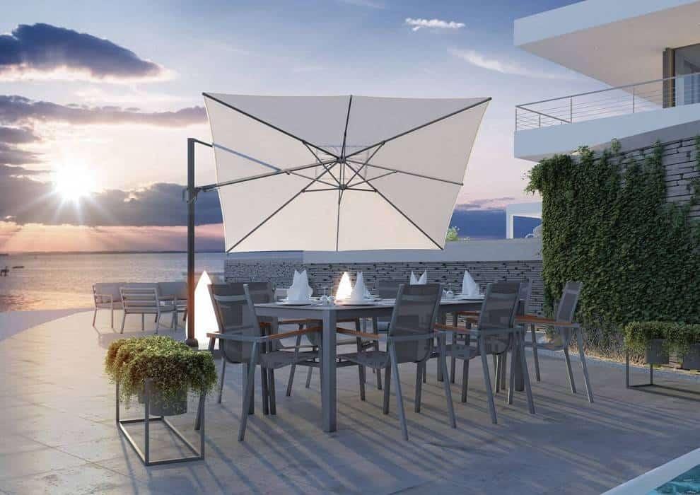 Duże parasole na taras – nowoczesne rozwiązania dla Twojego komfortu