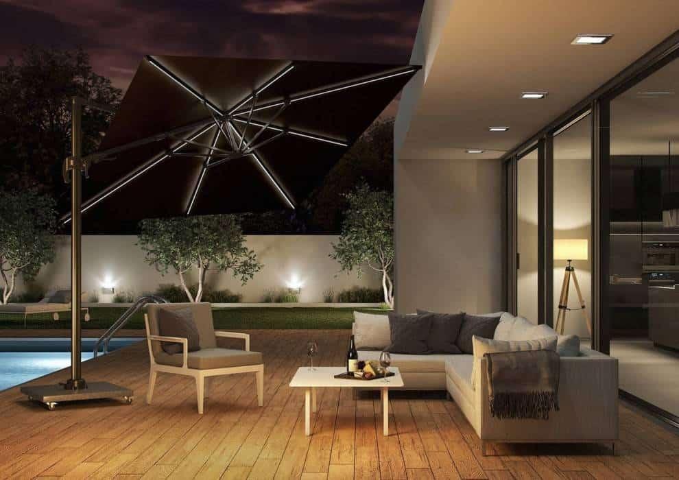 Parasol ogrodowy z oświetleniem LED – innowacyjne rozwiązania do ogrodu