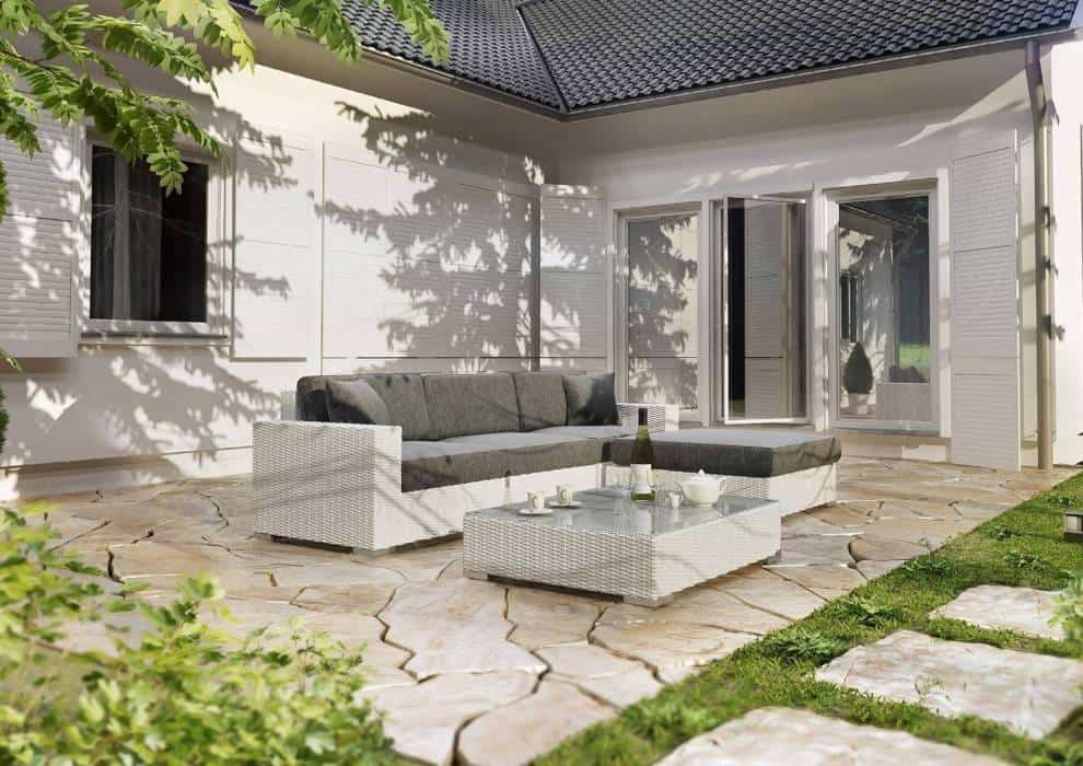 Komplet ogrodowy z technorattanu – nowoczesny ogród z klasą