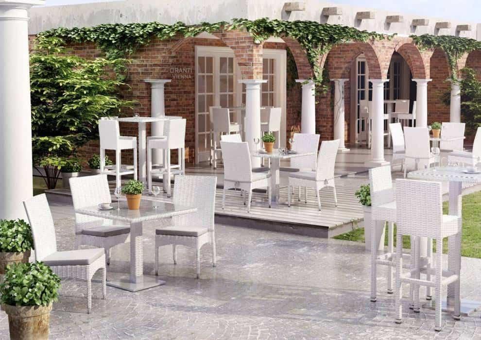 Krzesła technorattanowe na taras – elegancko, wygodnie, solidnie!
