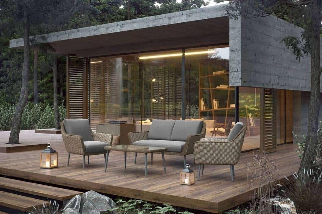 Meble ogrodowe wypoczynkowe – technorattan mile widziany w modnym ogrodzie