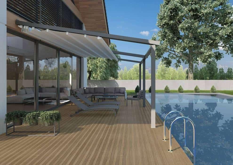 Pergola ze zwijanym dachem z materiału – innowacje w Twoim ogrodzie