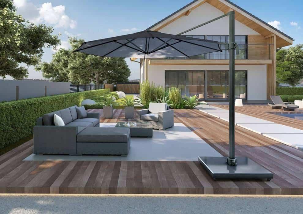 Parasol ogrodowy łamany – nowy standard w ogrodzie