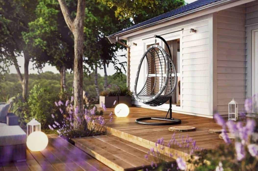 """Fotel """"kokon"""" stojący – nowoczesne wyposażenie do ogrodu"""