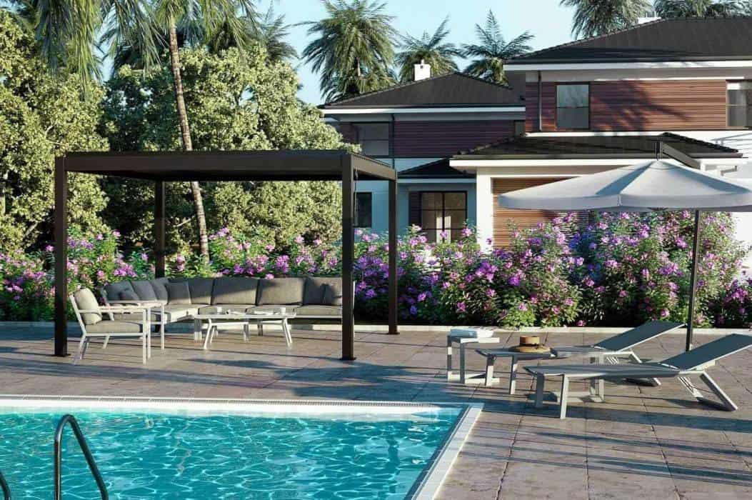 Duża altana ogrodowa – ciesz się latem w każdą pogodę!