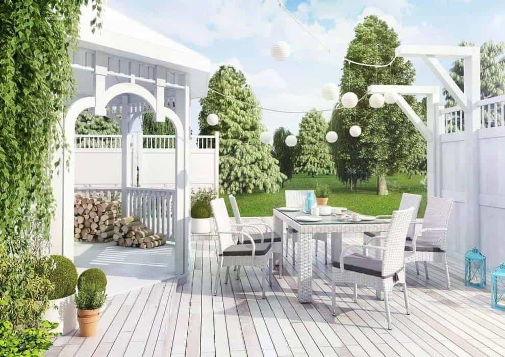 Stół i krzesła na taras – rodzinna strefa w Twoim ogrodzie