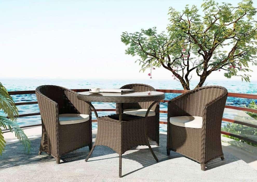 Stolik kawowy na taras dla komfortowego wypoczynku
