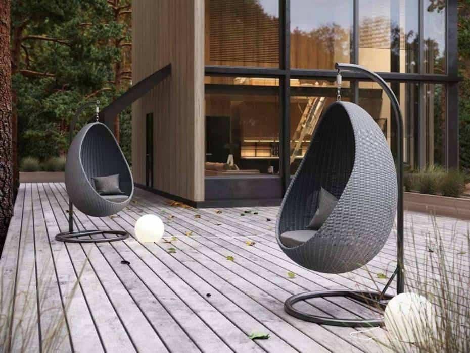 Huśtawki kokon – relaks w ogrodzie