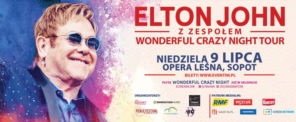 Garden Space x Elton John z zespołem Wonderful Crazy Night Tour!