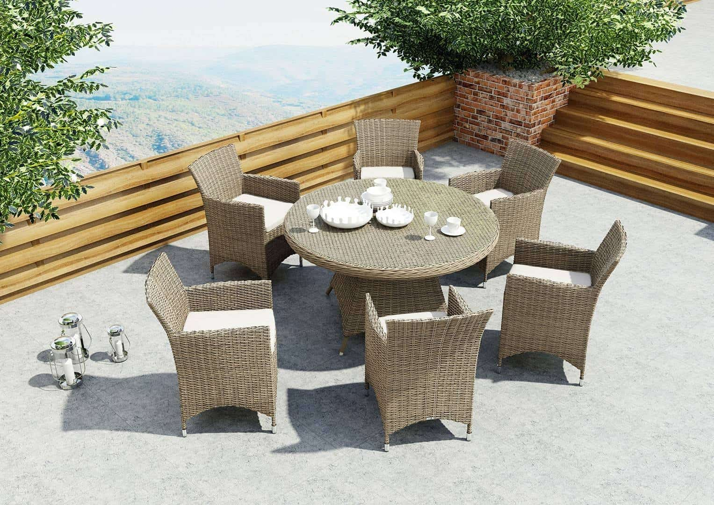 Stół ogrodowy RONDO 130cm royal sand