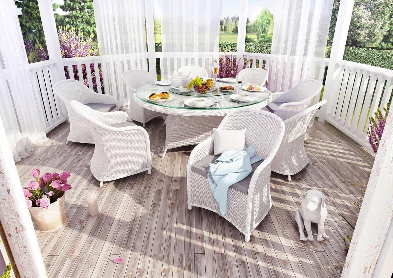 stół i krzesła ogrodowe RONDO