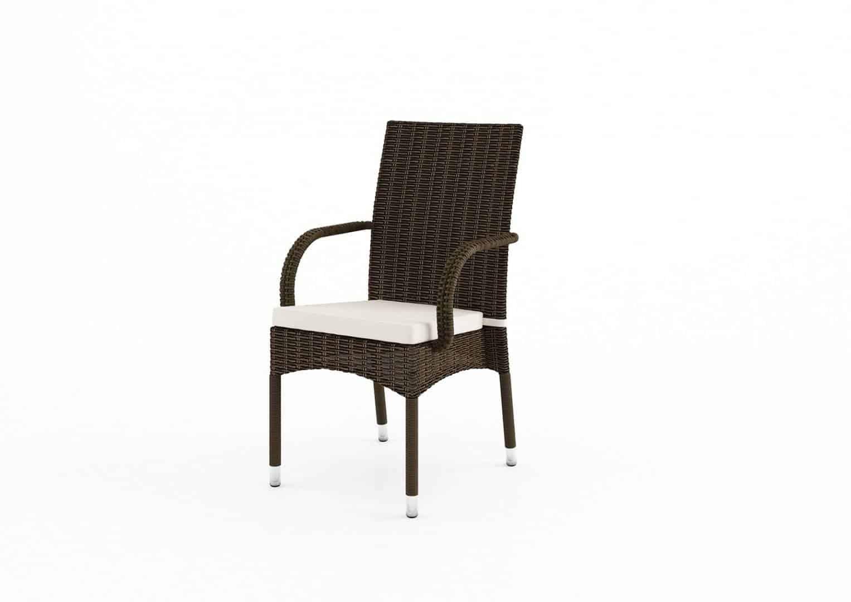 Krzesła na balkon Tramonto brąz