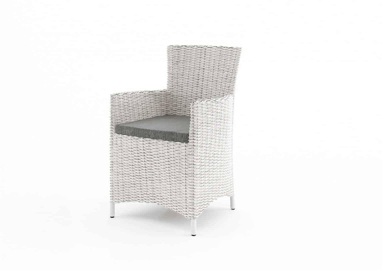 Białe meble ogrodowe - fotel AMANDA