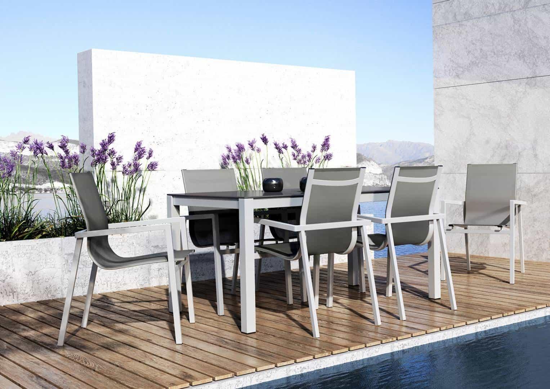 krzesła ogrodowe metalowe Alicante