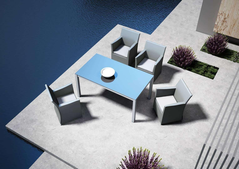 Fotel ogrodowy MERIDA jasnoszary