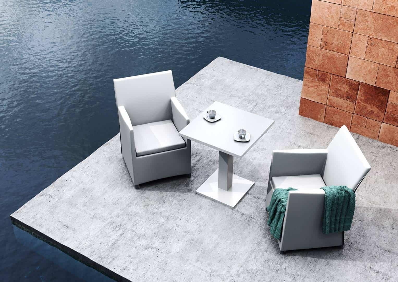 Fotel ogrodowy MERIDA light grey