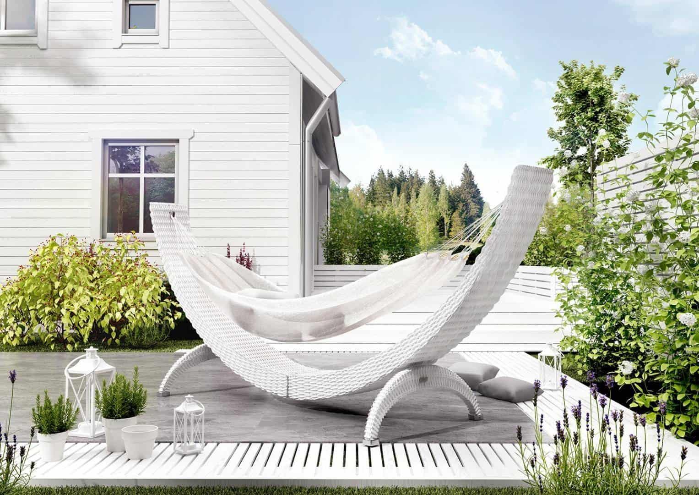 Na zdjęciu hamak ogrodowy - HAMAK SIESTA