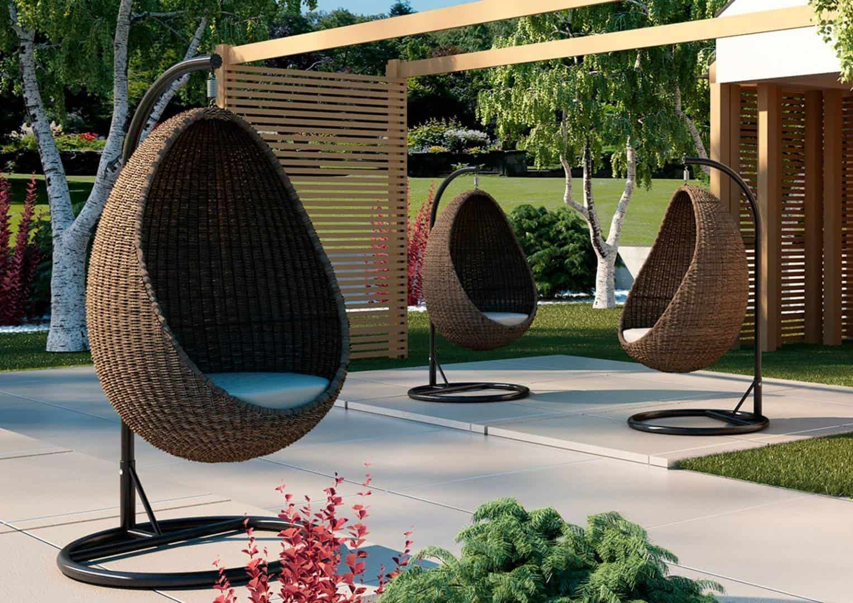 metalowe huśtawki ogrodowe Kokon