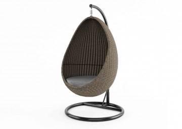 Fotele wiszące: Huśtawka ogrodowa KOKON royal piaskowa