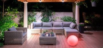 Lampa ogrodowa MAGICZNA KULA 35cm LED RGB