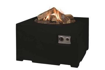 Grille ogrodowe: Palenisko gazowe kwadratowe 76cm czarne