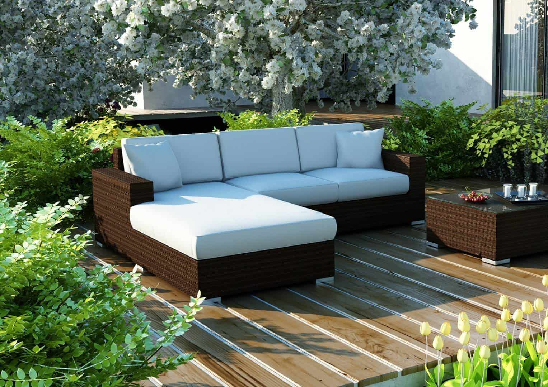 Na zdjęciu meble ogrodowe - MEBLE OGRODOWE MILANO 3