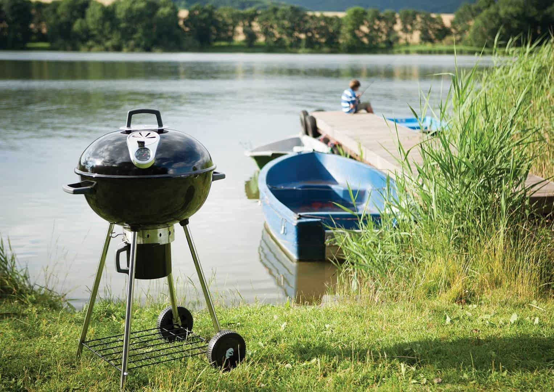 grill węglowy grill przenośny z wózkiem pro22k