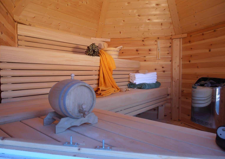 Domek drewniany - sauna 4,5m2