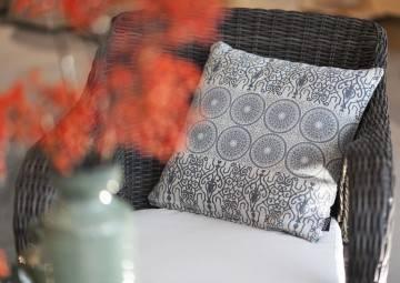 Poduszka dekoracyjna Kai ciemnoszara 45cm