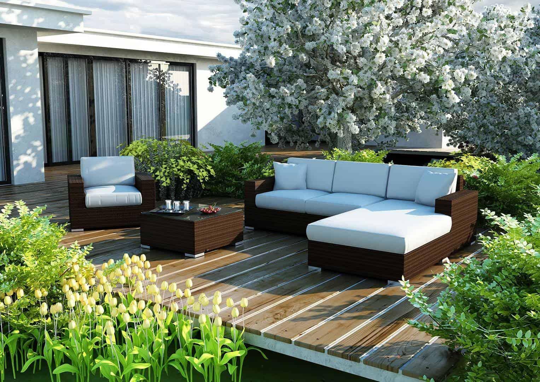 Na zdjęciu meble ogrodowe z technorattanu - Meble ogrodowe MILANO 1