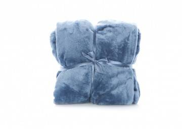 Pled Blush throw 150x200cm copen blue