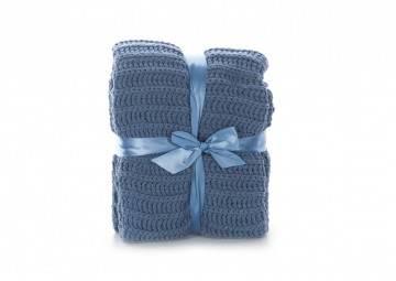 Pled Calvi throw 130x160cm copen blue
