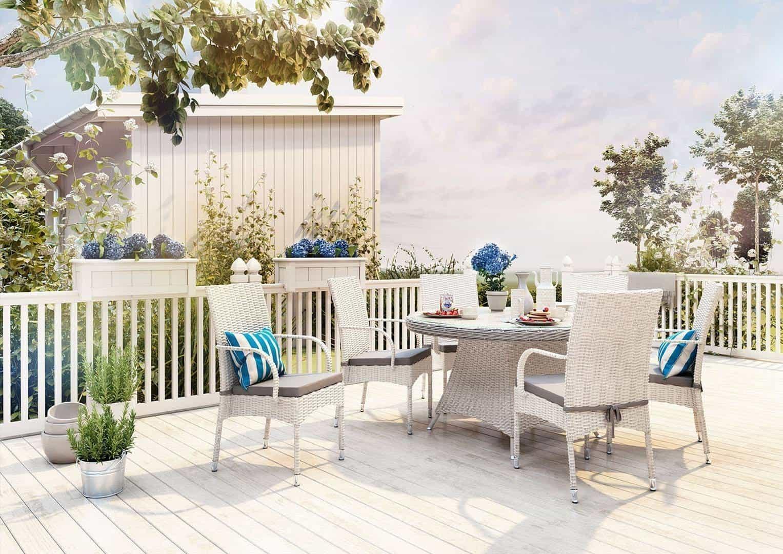 stół ogrodowy z krzesłami RONDO