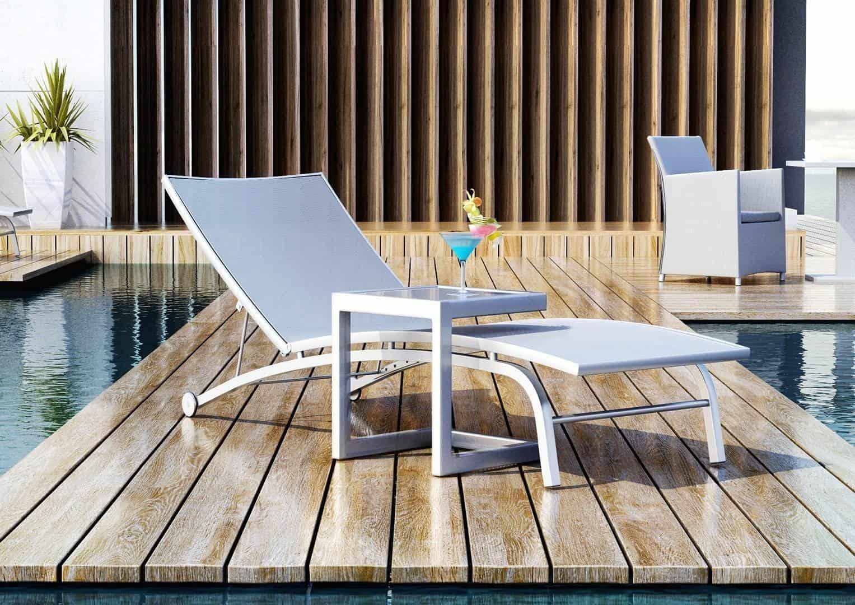 Leżak ogrodowy SEVILLA ze stolikiem