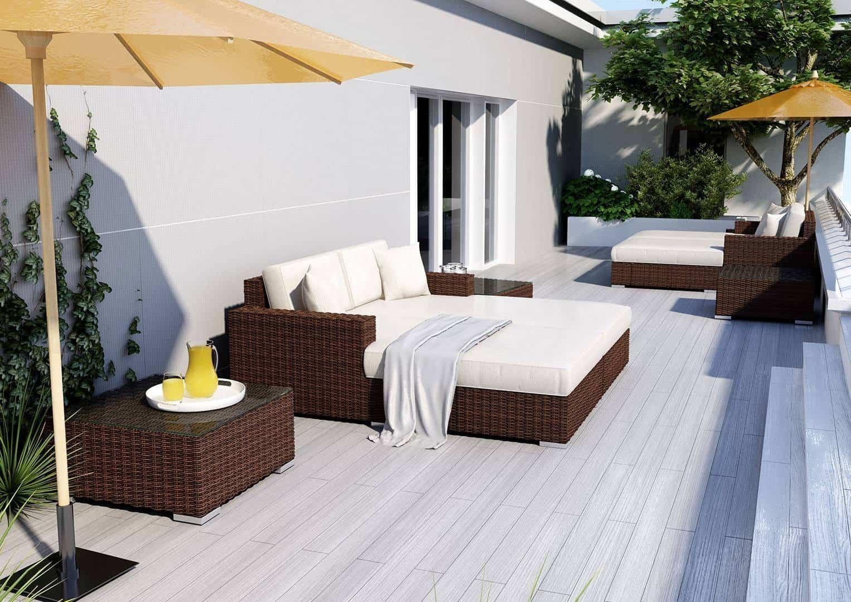 Na zdjęciu zestaw mebli ogrodowych - MEBLE OGRODOWE MILANO 11
