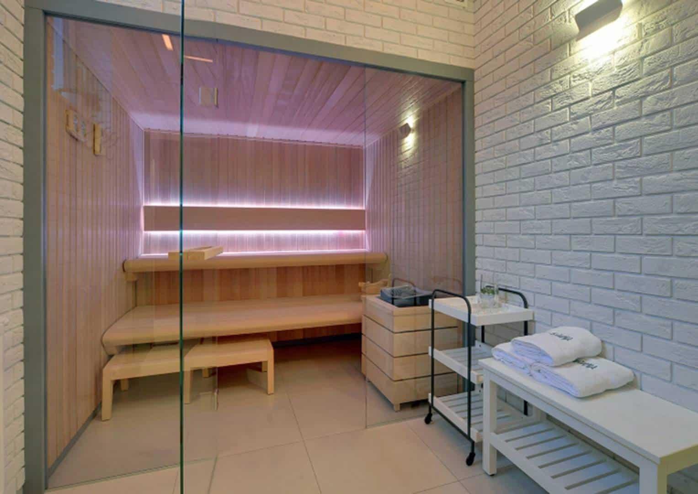 Na zdjęciu sauna - SAUNA COMFORT LINE I i II