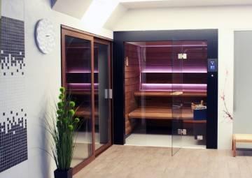 Domki i sauny ogrodowe: SAUNA BESTLINE WNĘKOWA II (Front w panelach)