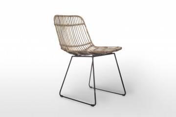 ekskluzywne meble: Krzesło rattanowe DINAN grey