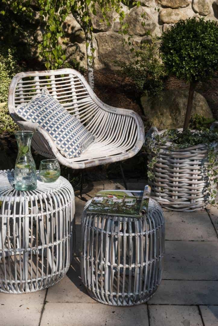 meble z drewna tekowego i krzesła LAVAL