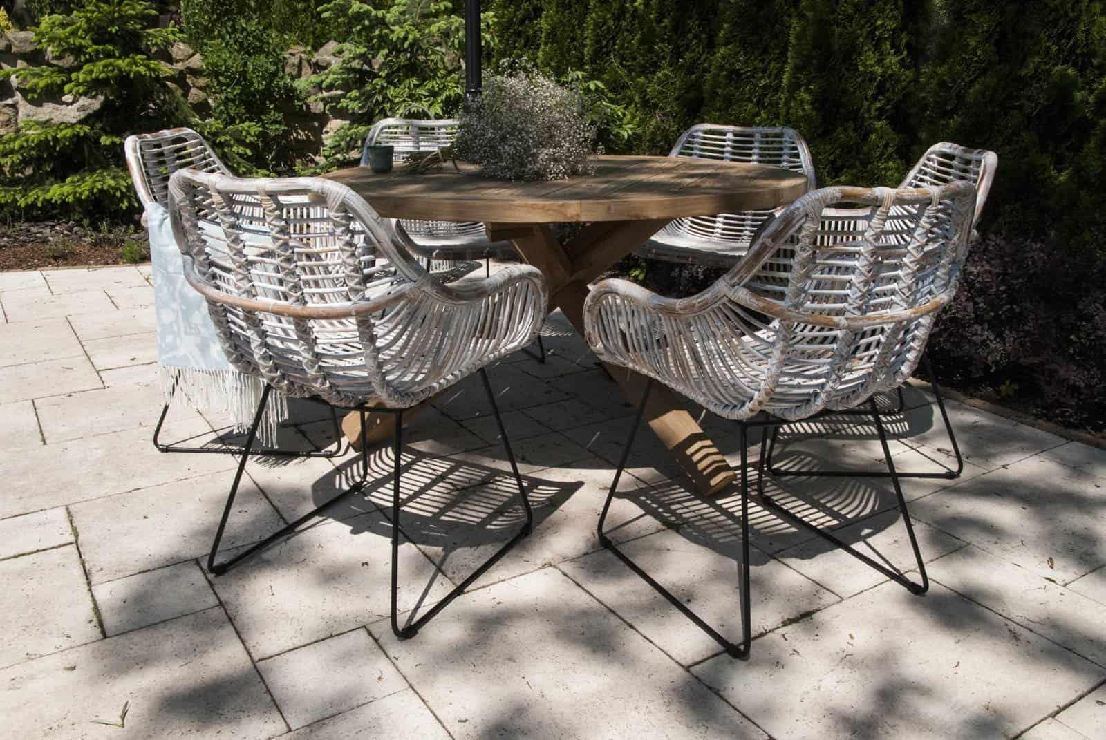 designerskie meble na taras krzesło technorattanowe Laval