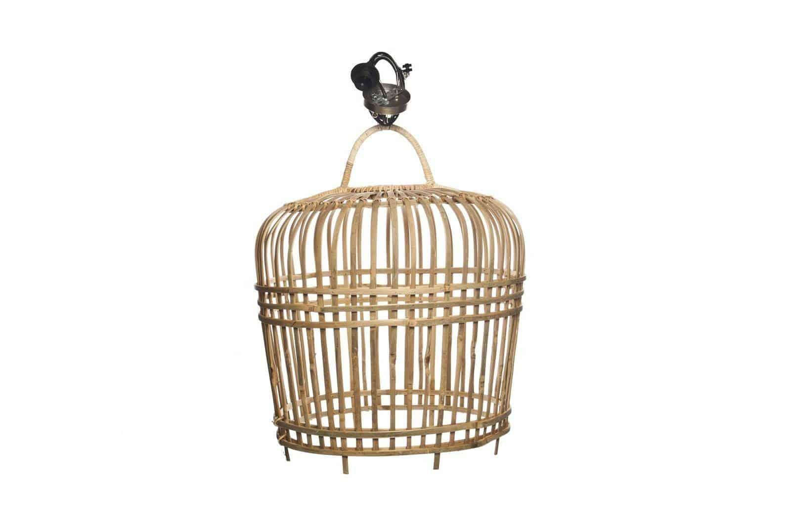 Lampa rattanowa bambusowa