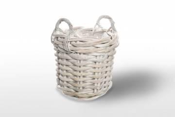 Kosz rattanowy RENNES ⌀35cm x wys. 35cm white