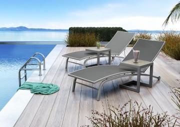 Leżak ogrodowy SEVILLA - STONE&WOOD