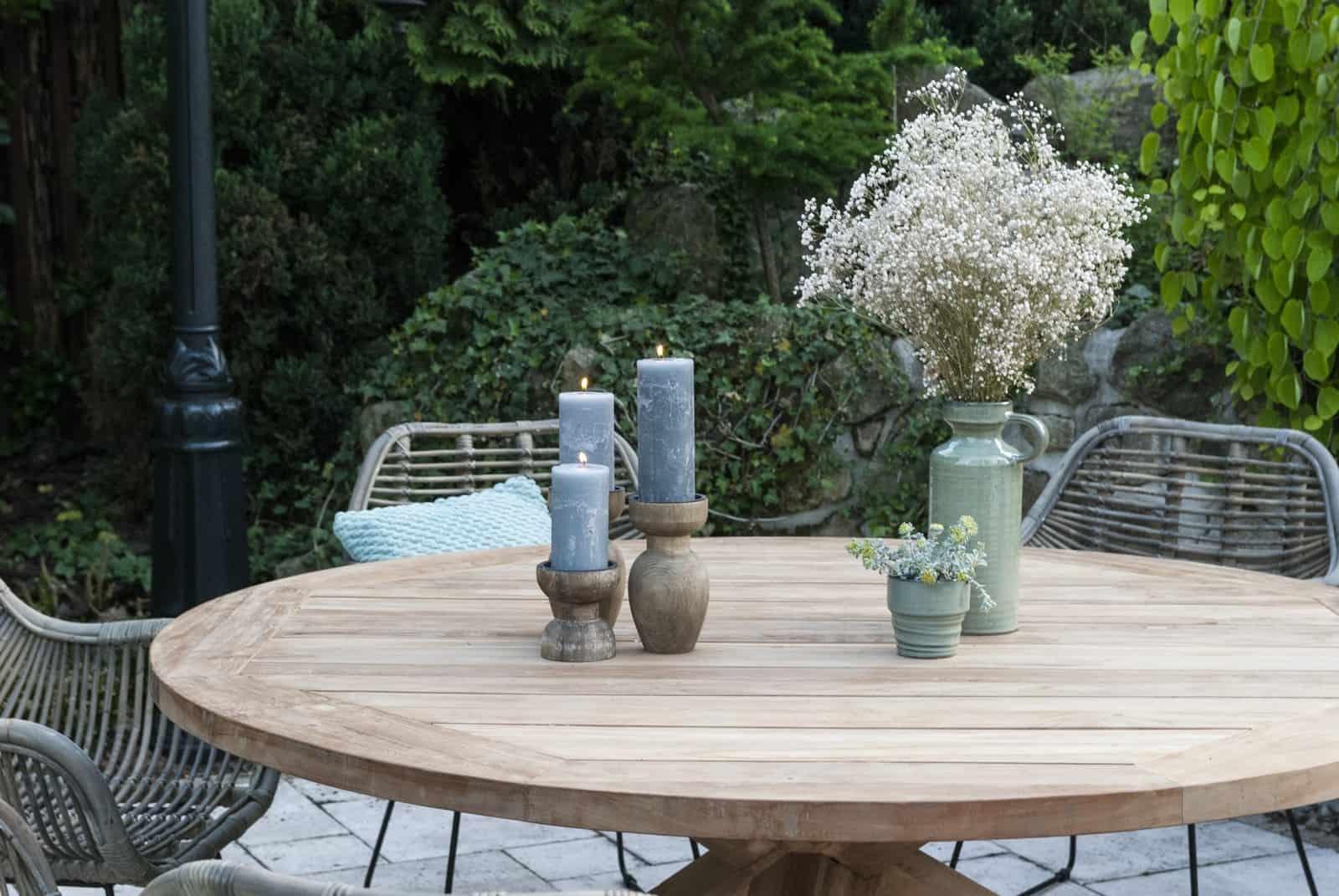 zestaw mebli tarasowych ze stołem tekowym BORDEAUX