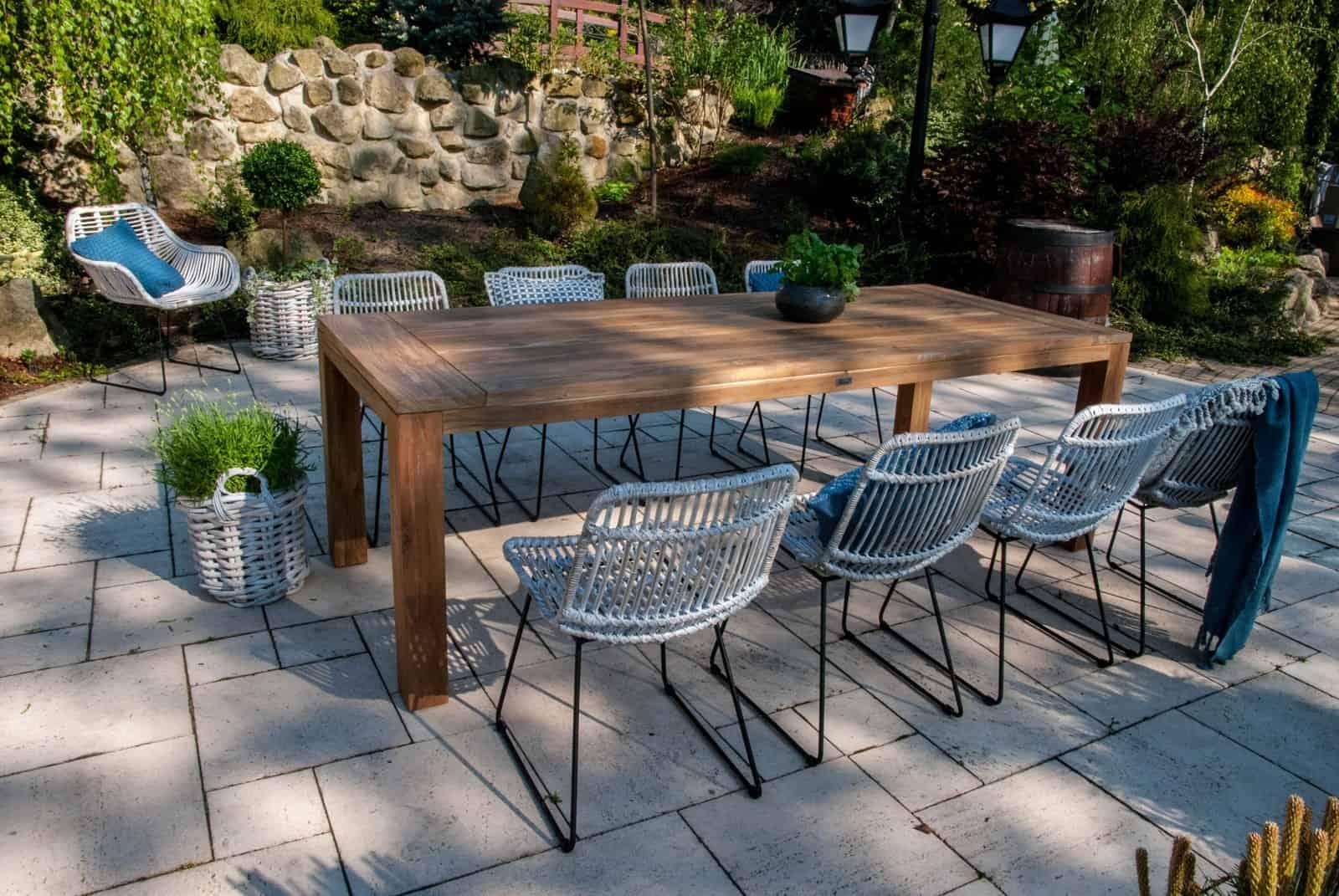 stół ogrodowy drewniany Nimes